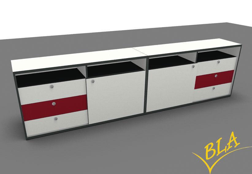 bla b ro liebt ausstattung b roeinrichtung sideboard kombination vari edo doppel. Black Bedroom Furniture Sets. Home Design Ideas