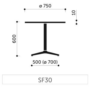 Bla b ro liebt ausstattung b roeinrichtung glastische for Beistelltisch 75 cm